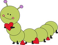 Valentine's Day caterpillar.