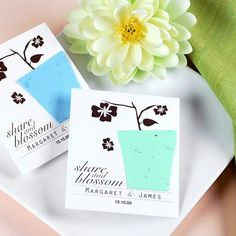 Personalized Plantable Seed Card Favors by Beau-coup