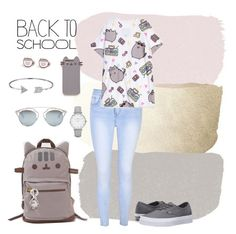 """""""#PVxPusheen"""" by nwazojie-andrea-chiamaka on Polyvore featuring Glamorous, Pusheen, Vans, Christian Dior, Bling Jewelry, Topshop, contestentry and PVxPusheen"""