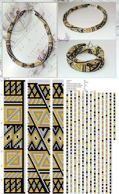 15 around tubular bead crochet rope pattern Bead Crochet Patterns, Bead Crochet Rope, Beading Patterns, Loom Bracelet Patterns, Crochet Beaded Bracelets, Peyote Beading, Beads, Handmade, Groomsmen