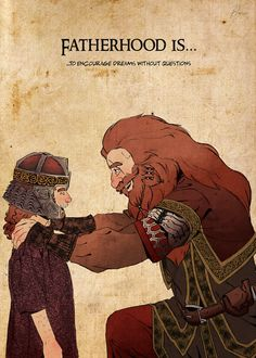 Гимли и Глоин   Gloin: Fatherhood by LadyYomi