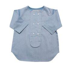 je suis en cp lightblue shirt with double buttons