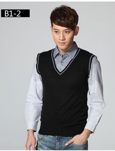 men's shirt collar sweater