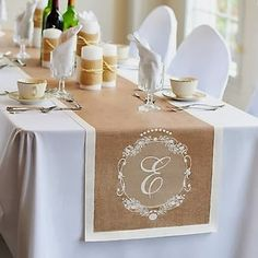 Thanksgiving table - monogrammed table runner
