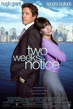 Two Weeks Notice , starring Sandra Bullock, Hugh Grant, Alicia Witt, Dana Ivey. A lawyer decides that she's used too much like a nanny by her boss, so she walks out on him. #Comedy #Romance