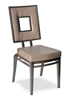 """""""Cleveland Stack Chair"""" An aluminum stack able banquet chair with a modern design feel. Wire leg, nest able base, it is stack able up to 7 high.  Please contact us for pricing (718)363-3097."""