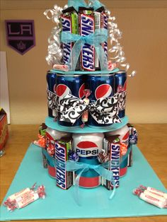 Candy soda cake for teen girl.