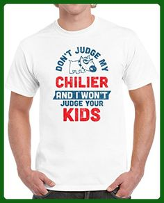 Chilier Don't Judge My Dog Won't Judge Your Kids Funny Pet Lover Unisex T-shirt S White - Animal shirts (*Amazon Partner-Link)