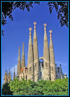 Sagrada Familia Barcelona Spain. Didn't get to go to Barcelona when I went to Spain a few years ago.  Good reason to go back!