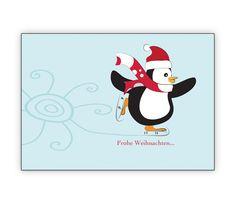 Schöne Weihnachtskarte mit Schlittschuh Pinguin: Frohe Weihnachten… - http://www.1agrusskarten.de/shop/schone-weihnachtskarte-mit-schlittschuh-laufendem-pinguin-mit-eis-blume-frohe-weihnachten/    00000_1_2404, Grusskarte, Klappkarte Rentier, Santa Sterne, Schneemann, Tanne, Weihnachtsbaum Engel, Weihnachtsmann, Winter00000_1_2404, Grusskarte, Klappkarte Rentier, Santa Sterne, Schneemann, Tanne, Weihnachtsbaum Engel, Weihnachtsmann, Winter