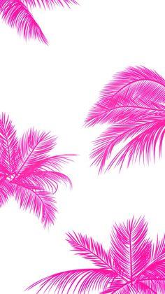 Pink Tumblr Wallpaper, Wallpaper Pop Art, Pretty Phone Wallpaper, Pretty Wallpapers, Mobile Wallpaper, Pattern Wallpaper, Leaves Wallpaper, 2017 Wallpaper, Palm Wallpaper