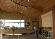 Stoller Family Estate's tasting room in Oregon by architect Ernest Munch.