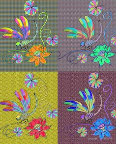 Dragonfly Collage