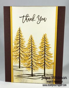 Stampin' Up! Thoughtful Branches stamp set is beautiful for fall cards.