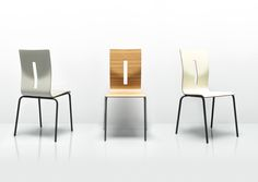 Visually minimal, Scoop is simple, compact and clever. The chairs can neatly stack together for easy storage or transportation making it perfect for transient spaces. Its simple tubular steel frame construction and pressed ply seats with their unique character give Scoop freshness over and above existing mono shell designs on the market.