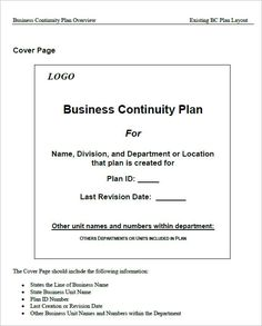 16 best business continuity management images on pinterest 7 free business continuity plan templates excel pdf formats friedricerecipe Image collections