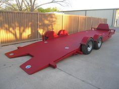 The trailer shown below is a 24' Drop n Load, with 5200lb axles, has LED Lights, Options include Racer Box with Optional Aluminum Doors, 4 each additional ...