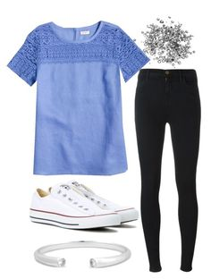 """Untitled#145"" by angieleabourgeois on Polyvore featuring J.Crew, J Brand and Converse"
