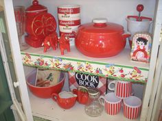 Cool red kitchenalia for sale