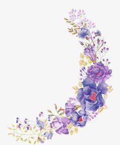Beautiful purple painted flowers