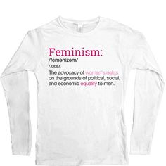 Feminism Definition T Shirt | Products | Pinterest | Feminism Definition,  Definitions And Products