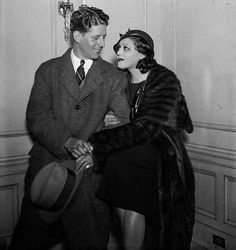 Rudy Vallee with wife actress Fay Webb. They married in 1930. She died in 1936.
