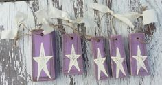 5 Pc Primitive Star Ornies Set by thecountryshed on Etsy, $6.00