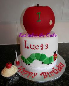 Hungry Caterpillar Birthday Cake by Kat takes the Cake, Picton, New South Wales, Australia. You'll find this Cake Appreciation Society Member in our Directory at www.cakeappreciationsociety.com