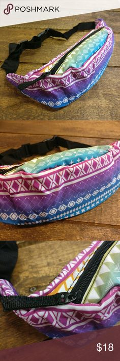 Tribal Rainbow Adventure Fanny Pack NEW! The freaking best!  Carry what you need, hands free!  Adjustable fanny/ adventure/hip pack  Zipper closure  Fun, bright, tribal, rainbow pattern design  Perfect for festivals, concerts, amusement parks, bike rides, a night out or anyone you're having an unforgettable adventure!   Zip your sh*t and party on! CLE Threads Bags