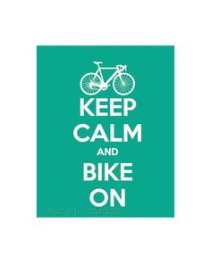 Bicycle Art Print Keep Calm and Bike On Sports by HausofAriella, $15.00