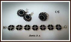 Conjunto plata y negro