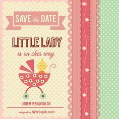 Little lady baby shower - Freepik.com-Invitations-pin-10