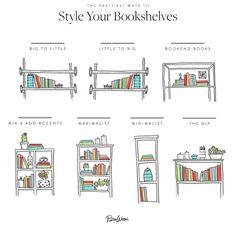 All the Glorious Ways You Can Arrange Your Bookshelves Bücherregal dekorieren - Best Dekoration Regal