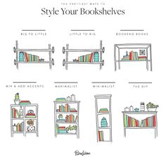 All the Glorious Ways You Can Arrange Your Bookshelves via @PureWow