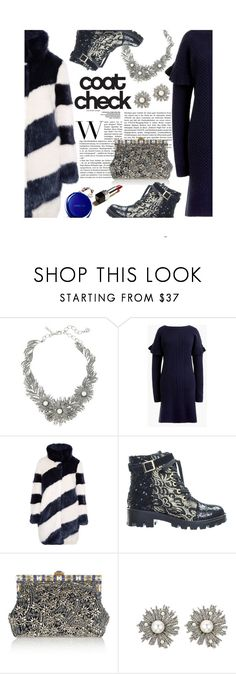 """Statement Coats"" by mia-christine ❤ liked on Polyvore featuring Oscar de la Renta, COVERGIRL, J.Crew, Dolce&Gabbana and statementcoats"