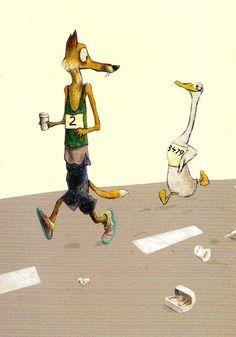 Wolf Erlbruch, (1949) autor e ilustrador alemán de libros infantiles.-