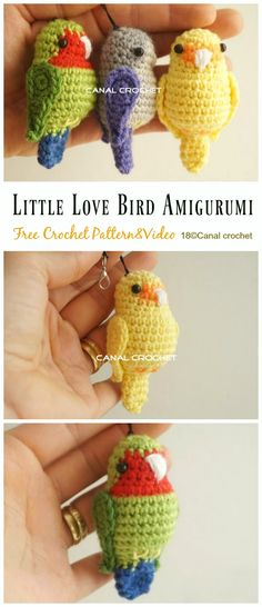 Most up-to-date Totally Free crochet amigurumi bird Ideas Crochet Bird Amigurumi Free Patterns Crochet Bird Patterns, Crochet Birds, Crochet Diy, Crochet Amigurumi Free Patterns, Crochet Crafts, Crochet Projects, Knitting Patterns, Crochet Ideas, Crochet Keychain Pattern
