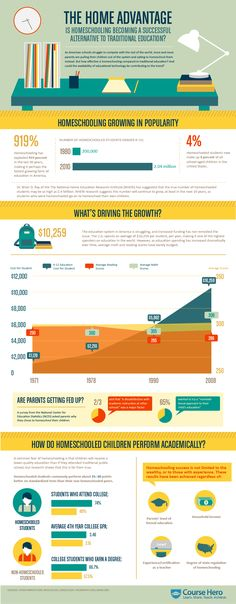 #Education: The Home Advantage - Homeschooling #Infographic