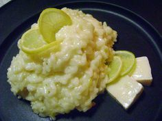 risoto de alho poró, limão e queijo parmesão