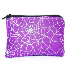 Spiderwebs on Purple Cotton Padded Pipe Pouch by PouchAPalooza, $8.00