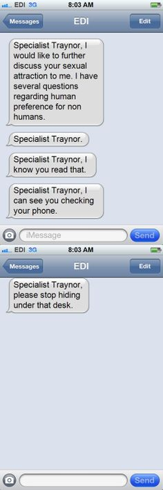 Texts From the Normandy Crew... Poor Traynor.  :-)