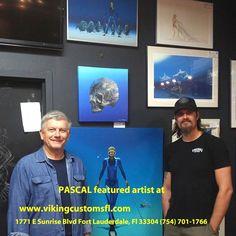 Artwork Display, Fort Lauderdale, Limited Edition Prints, Vikings, Harley Davidson, Sunrise, Bike, Night, Artist