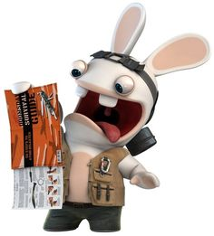 LAPIN CRETIN Rayman Raving Rabbids, Tigger, Rabbits, Minions, Selfie, Video Games, Doodles, Animales, Pin Up Cartoons