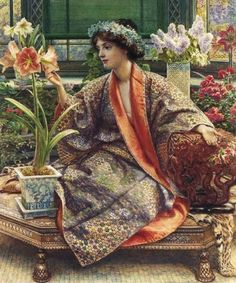 Edward-John-Poynter-English-Classicist-painter-1836-1919-Hot-house-Flower