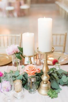 Elegant Gold Candles