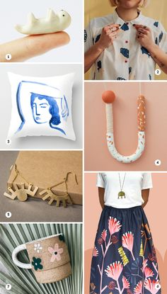 Creative products // gift ideas // creative gift ideas // summer fashion // illustrated products