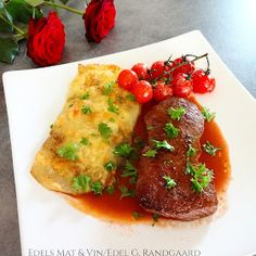 Edels Mat & Vin: Biff med ostepoteter og cognacpeppersaus ♫♪ Steak, Grilling, Beef, Food, Meat, Crickets, Essen, Steaks, Meals