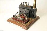 Alte Bing Dampfmaschine handlackiert, tin toy Bing live steam engine handpainted