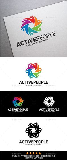 Active People Logo Template
