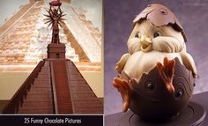 Chocolate Humor, Chocolate Sculptures, Chocolate Pictures, Halloween Festival, Christmas Chocolate, How To Make Chocolate, Image Sharing